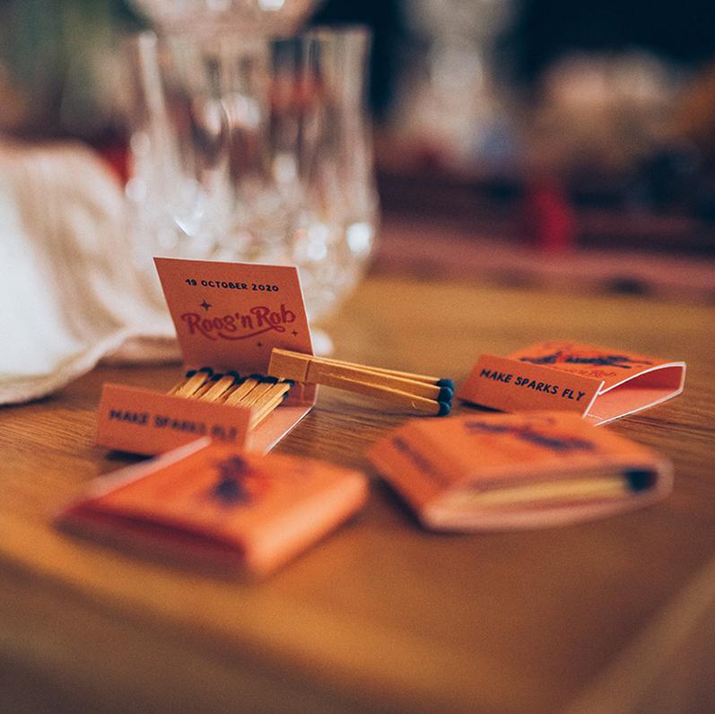 lucifermapjes op maat huwelijksfeest huwelijk trouw