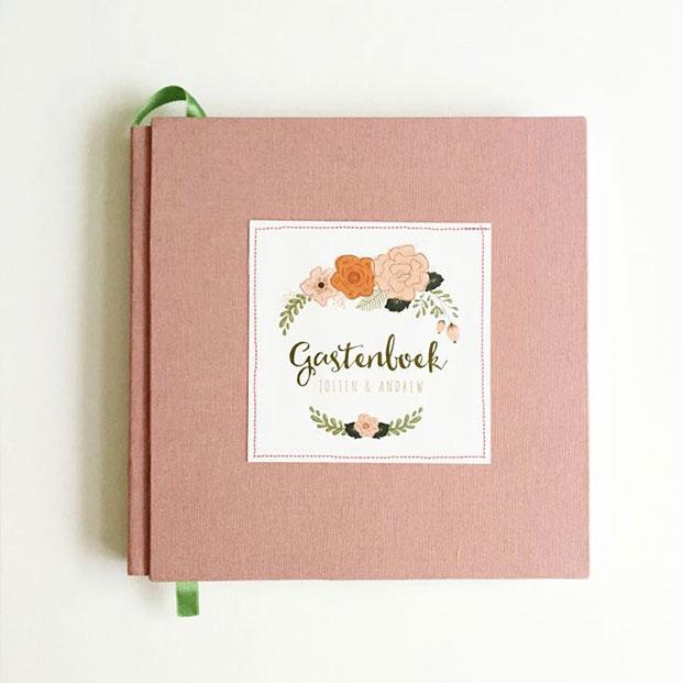 gastenboek op maat stof textiel