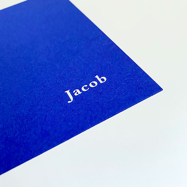 geboortekaartje jongen blauw kobalt