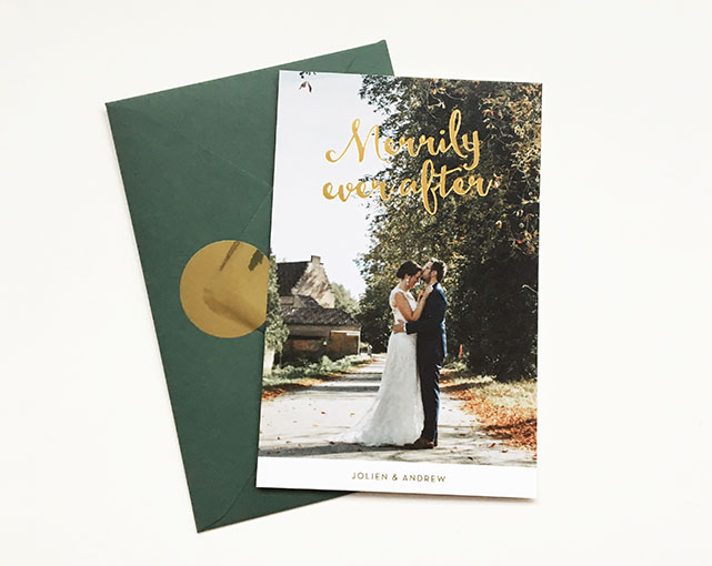 huwelijksuitnodigingen gent goud