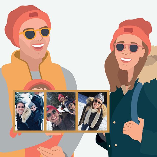 geboortekaartje familieportret gezinsportret illustratie gezin familie