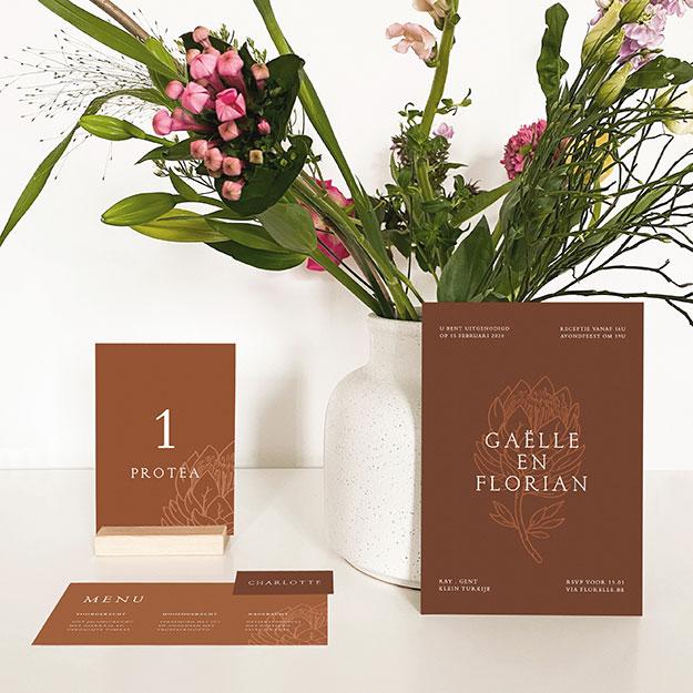 huwelijksuitnodigingen gent Lokeren bloemen
