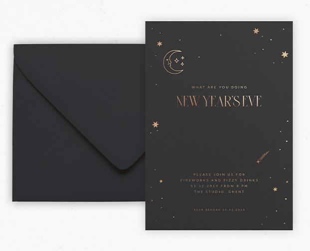 uitnodiging op maat nieuwjaar gelegenheidsdrukwerk