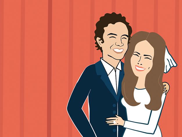 trouwuitnodiging illustratie