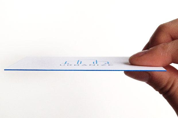letterpress edge painting visitekaartjes gent