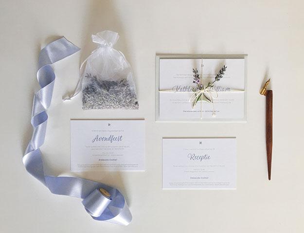 Huwelijksuitnodigingen gent kleur op snee