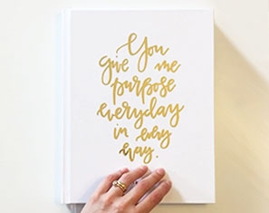 gastenboek goudfolie ontwerp
