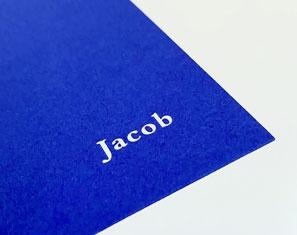 geboortekaartje jongen blauw folie kobalt