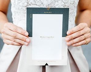 moderne huwelijksuitnodigingen gent