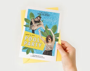 uitnodiging pool party verjaardag