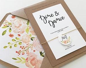 huwelijksuitnodiging bloemen