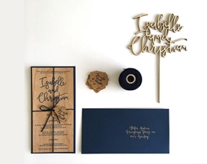 Wedding invitation wood