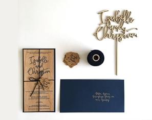 Wedding invitation wood