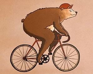 Geboortekaartje jongen geïllustreerde beer op maat