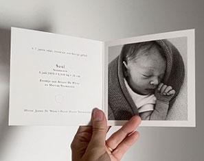 geboortekaartje eiceldonor draagmoeder ivf