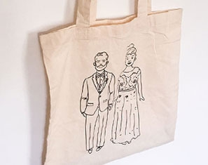 Canvas Tas tote bag op maat
