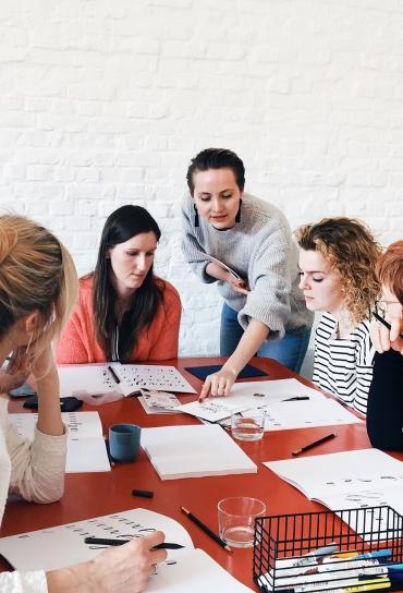workshop handlettering Oost-Vlaanderen